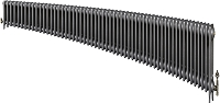 Eastgate Victoriana 3 Column 57 Section Cast Iron Radiator 450mm High x 3465mm Wide - Metallic Finish